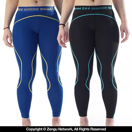 93 Brand Standard Issue 2-PACK of Womens Grappling Spats Black, Blue